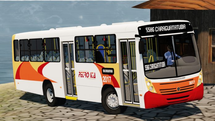 Neobus Mega 2006 OF-1418 padrão Petro Ita RJ Qsqsq-696x392